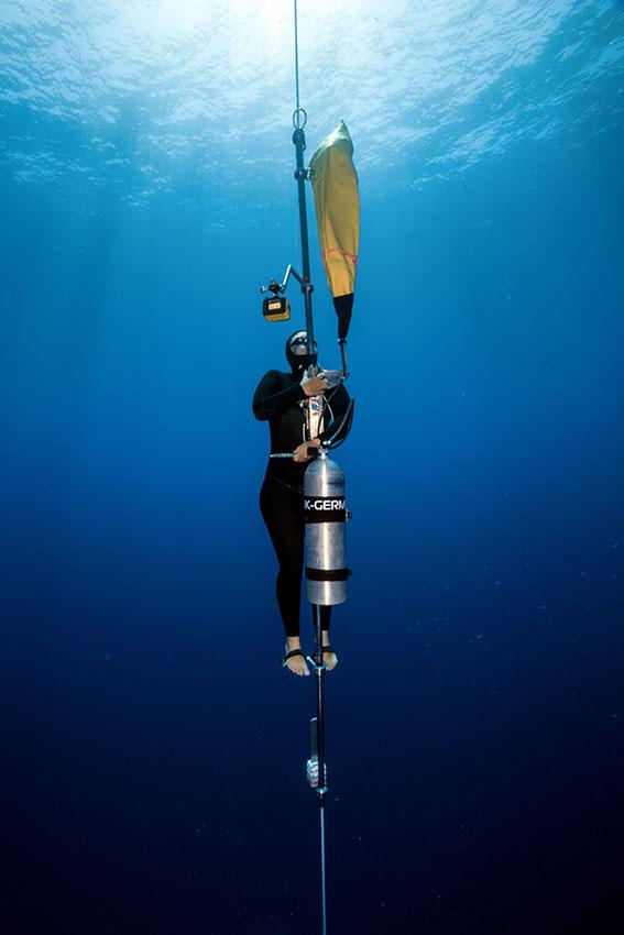 Nanja van den Broek Freediving 2015